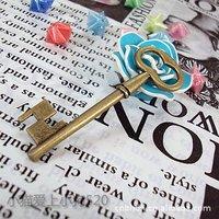 Wholesale 10pcs/lot 58*20mm Antique Bronze Zinc Alloy Metal Key Charms/DIY Fashion Jewelry Accessories(BA-019)