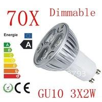 2X Free shipping  Dimmable GU10 E27 MR16 3W 6W 9W High power LED Bulb Spotlight Downlight Lamp LED Lighting 600lm Good Quality