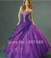 2012 Stock New taffeta  the pictures color  Wedding Brides Dress size 6 8 10 12 14 16 PJ0009
