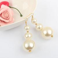 Halloween Christmas gift  free shipping Earrings fashion large pearl tassel earrings 9581