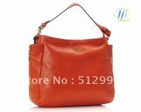 free shipping!handbags fashion 2012 new,women genuine leather bag,brand handbags women bags, quanlity leather,ORANGE, ZLB013