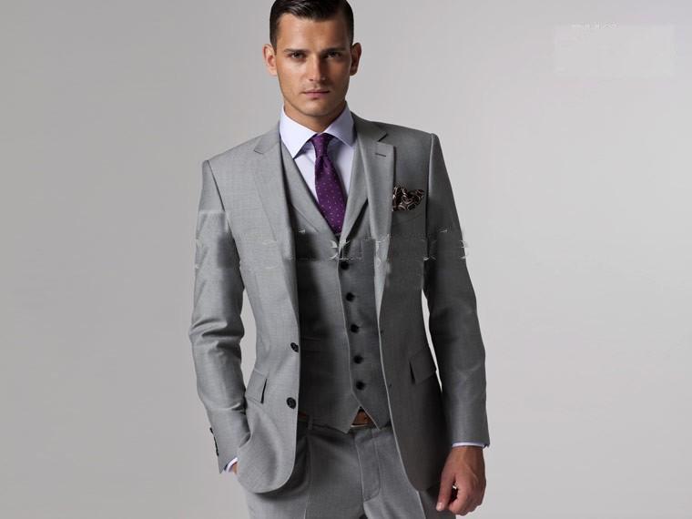 Wholesale-Groom Tuxedos Peak Lapel Best Man Groomsmen Men Wedding ...