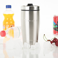 A M@ll Straw! Double layer stainless steel auto cup self-shade potbellied cup -cbt1