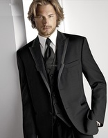 2013 High quality black colour Men's Wedding Dress Groom Wear Bridegroom suits Prom Clothing Groom Tuxedos
