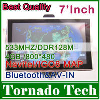 GPS-навигатор 2012Map For 4.3 inch cheapest Car GPS navigator Build-in 4GB Bluetooth&AV-IN DDR128MB 480*272 IGO8/Navitel Map