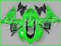 Fit Ninja ZX-10R 04 05 Black Green Fairing 14W38