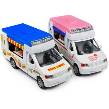 Toy car alloy WARRIOR cars baby ice cream hamburger lunchwagon acoustooptical -ZWZ1