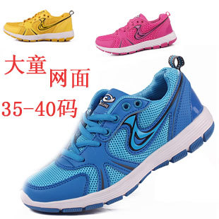 Big boy sport shoes summer gauze children shoes light soft outsole breathable shoes male child girls shoes plus size children