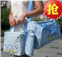 A M@ll Mom&Baby! Super-elevation water nappy bag piece set big bag small bag pads bottle cooler bag -htm1