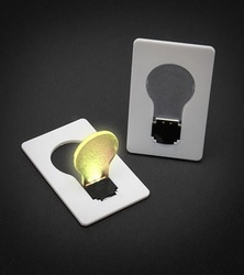 DHL Free ship.100pcs/lot.credit card lightbulb .Bright Idea in Your Wallet . card light.(China (Mainland))