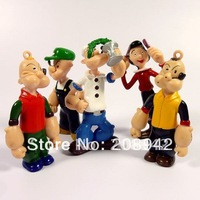 Best selling!! ANIME THE SAILOR CUTE POPEYE FIGURES TOYS Free shipping, 5 pcs/lot