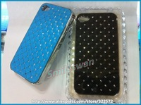 Luxury fashion bling diamond hard back cover cases for iphone 4 4S Free shipping