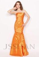 Strapless Ruched Lined Mermaid Junoesque Elegant Gorgeous Luxury Unique Evening Dress Short Prom Dress