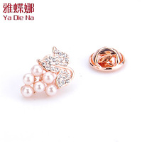 Free shipping Ya Diena small  brooch pearl thorns horse pin fashion collar pin cm001