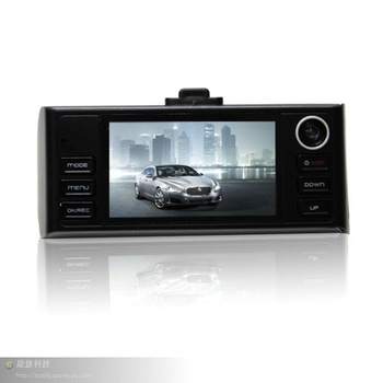 2.7inch 720P F50 HD car black box DVR with G- sensor ,Dual camera,H.264 compression