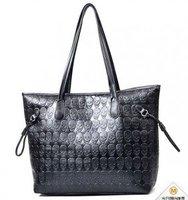 2014 Korean style skull pattern PU handbag woman free shipping