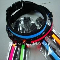 nylon light up led  led pet  dog collars for  promotional