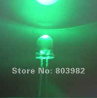 Ultra bright 8mm green round led water clear dip led 505-530nm 3.0-3.5V