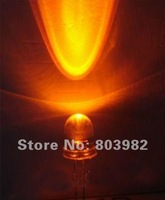 Wholesale Orange led 8mm diodes dip bulb(led info dispaly/car led/tree led)