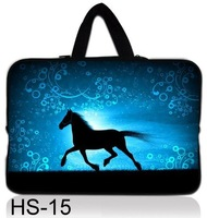 "Fashion cool Horse Neoprene 13"" 13.3 INCH Sofe LAPTOP hidden HANDLE SLEEVE BAG notebook CASE cover POUCH PROTECTOR"
