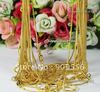 "Free shipping! wholesale! High Quality Gold Plated snake chain necklace 18"",20pcs/lot"