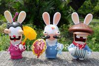 Best selling!! Rayman Raving Rabbids Rabbit Mini Figures Toy Model Free shipping, 10 PCS/LOT