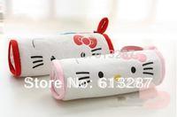 Free Shipping Kawaii Plush Flock Hello Kitty Cylinder Pencil Bag,Storage BagXmas Gift Retail