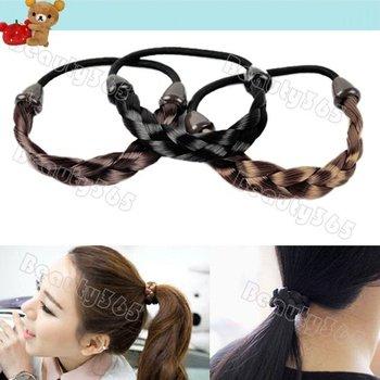 Wholesale New Synthetic Hair Plaited Plait Elastic Headband Braided Hairband Hair Bands Hair accessories 5592