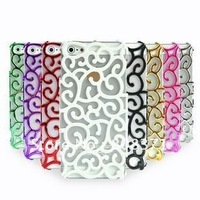 Free shipping 10PCS/Lot new arrival 6Colour For iPhone 5 5G 5th case plating plastic Hard Case For iPhone5
