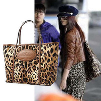free shipping! 2013 hot sale  women's fashion hand bags leopard designer handbag