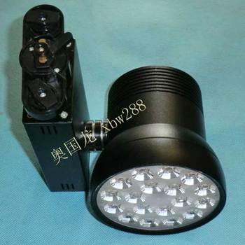 Bright one piece lens 18w led track light road, rail lamp light rail spotlights