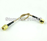 Free shipping (5pieces/lot)  SMA Male to SMA Male Straight RF connector Crimp RG316 cable Jumper pigtail cable 15cm