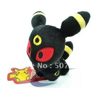 "wholesale Eevee black high quality Pokemon toy Pikachu soft plush doll 12cm 5"" month Eevee"