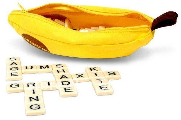 Banana Word Game Scrabble Game Crossword Word Anagram Interesting Puzzle Toys puzzle doll 120sets DHL Free Shipping(China (Mainland))