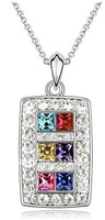 Free Shipping Min Order is $15 (mix order )  The Latest Hotsale Popular Rectangle Crystal Necklace