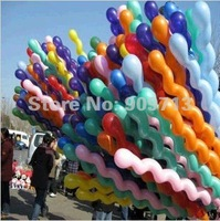 2014New!10inch 0.3g magical inflatable twist balloons best quality manual arts screw kids toys 50pcs color mix  Free ship