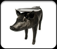 Moooi pig table black coffee table front team pig horse