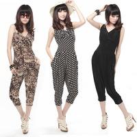 Female plus size clothing jumpsuit one piece jumpsuit capris