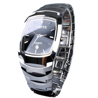 Leste tungsten steel watches square male calendar waterproof tungsten steel male steel lm2300