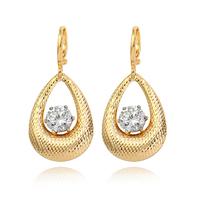 Xuping accessories bohemia drop earring female 18k gold zircon fashion earring girlfriend gifts