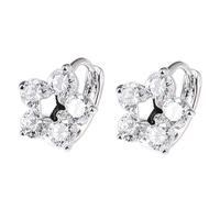 Xuping zircon gold plated fresh flower earrings female accessories earring hoop earrings in ear gift