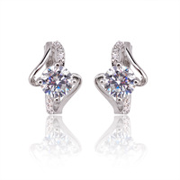 Xuping accessories zircon earrings in ear female fashion hoop earrings bridal earring gift