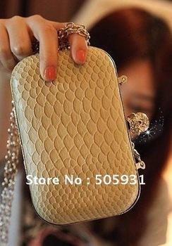 Free shipping 2013 women bags ,Skull clutch bag, skeleton ring bag, 1pc 1lot,wholesale