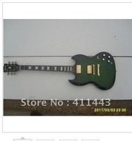 Water ripple veneer classic green electric guitar