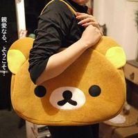 Free shipping Bear san-x rilakkuma travel bag Plush Backpacks Christmas gift