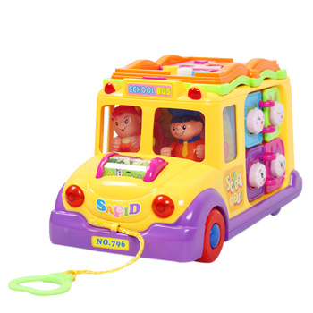 FREE SHIPPING Department of music toy 796 bus music car 8 10