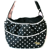 Pet paradise black polka dot crossbody bags 3kg 5kg
