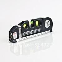 1pcs Newest Horizon Vertical Laser Level 8FT Aligner Metric Ruler Measure Tape