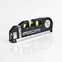 New Laser Level Horizon Vertical Measure Tape 8FT Aligner