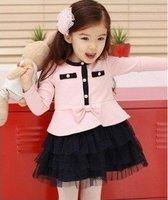 2012 New spring autumn models girls in blue lace dress girls jumpsuit 5pcs/lot